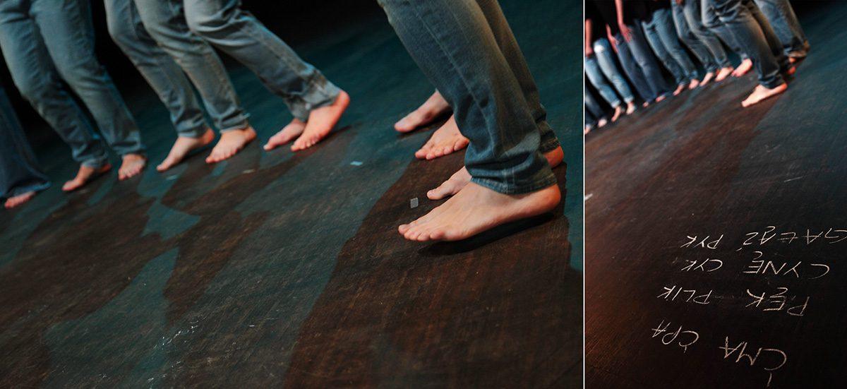 """""""Rytm Języka"""" by Chorea Theatre (2014). Photo by Chorea Theatre."""