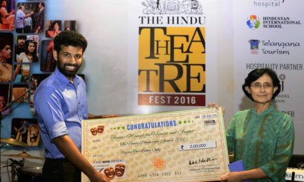 "Thomas Manuel Wins The Hindu Playwright Award 2016 for His Play ""Hamlet and Angad"""