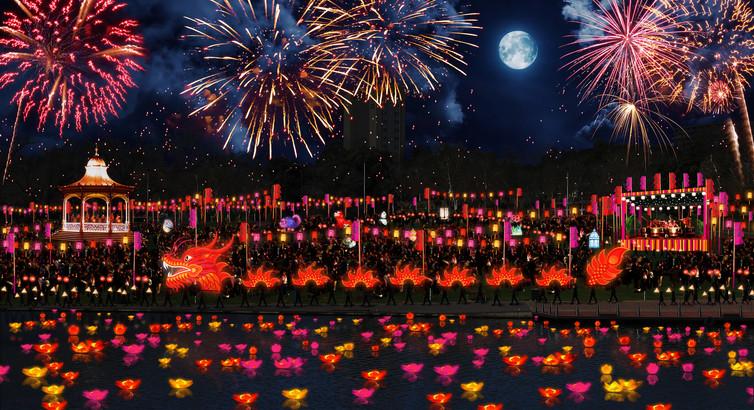 Moon Lantern Festival. Simone Romaniuk