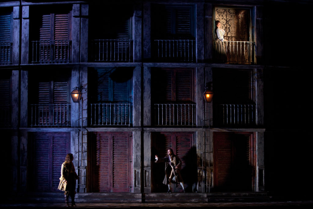 "A scene from the Met's new production of Mozart's ""Don Giovanni."" Photo: Marty Sohl/Metropolitan Opera Taken during the rehearsal on October 4, 2011 at the Metropolitan Opera in New York City."