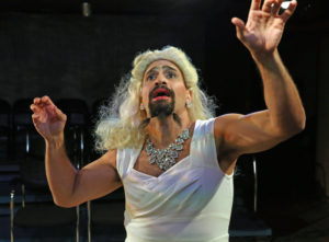 Daniel Izarray in The Maids. Photo credit Carol Rosegg.