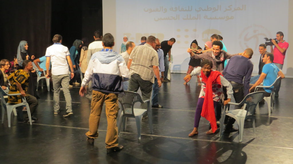 Y-PEER Theater Based Techniques (TBT) Training. The National Centre for Culture and Arts and UNFPA, 2015. Photo credit: Issa AbuOthman