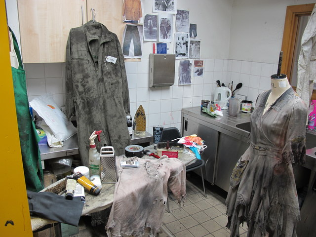 Costume dyeing room, Royal Exchange Theatre © Copyright David Hawgood and licensed for reuse under this Creative Commons Licence.