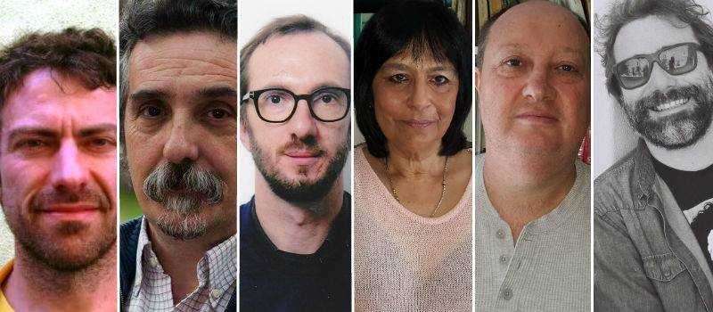 Participants in Idiomas: Óscar Cornago, Jorge Dubatti, Rui Pina Coelho, María Esther Burgueño, Bernardo Borkenstain and Jorge Louraço.