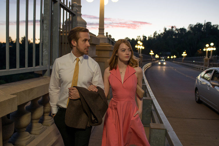"""Here's to the ones who dream."" Ryan Gosling and Emma Stone in La La Land Photo Credit: Dale Robinette"