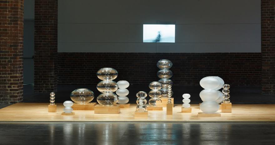 "Hassan Khan, ""Abstract Music,"" 2015. Stacked glass. Courtesy Hassan Khan, MMK/Frankfurt. Photographer: Axel Schneider."