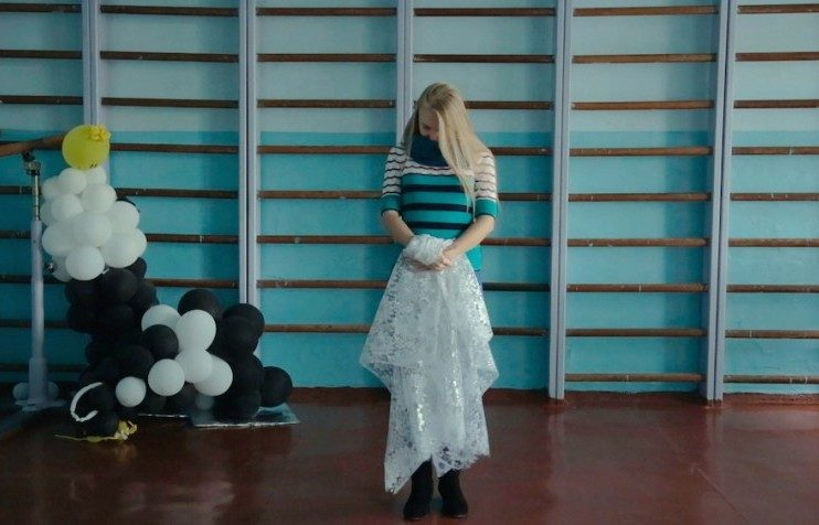 Katya Sergeeva in a still from School # 3 (2017). Image: Khrystyna Lizogub