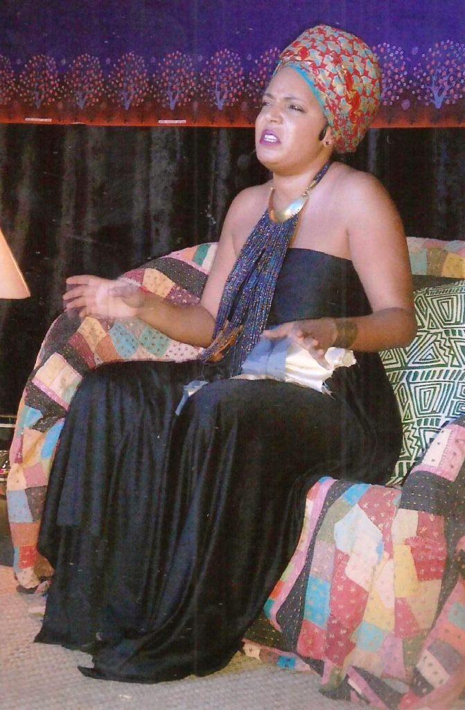 Maimouna Jallow on stage
