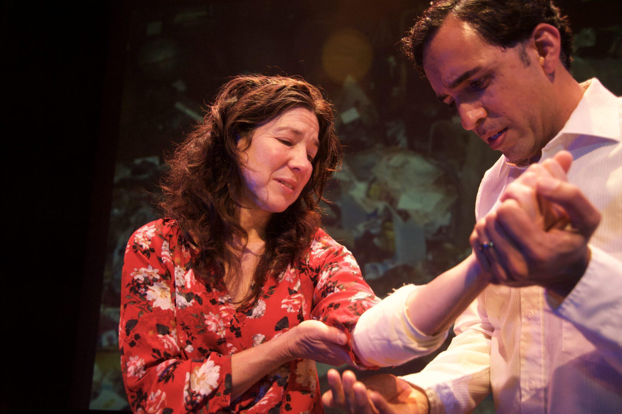 Michele Apriña Leavy and Gabriel Montoya in Ghost Limb. Photo by Kolmel W. Love.