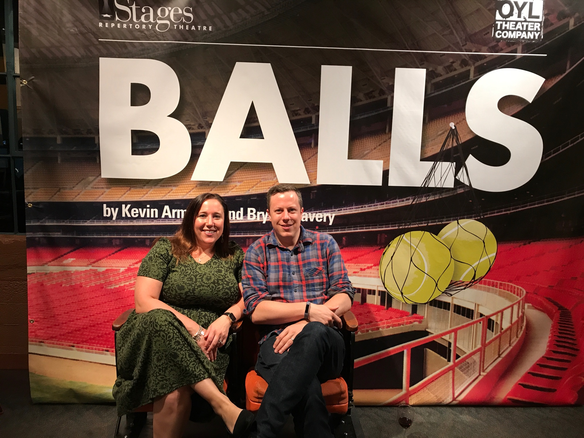 "Frances Boffone Keuhne and Trevor Boffone at ""Balls."""