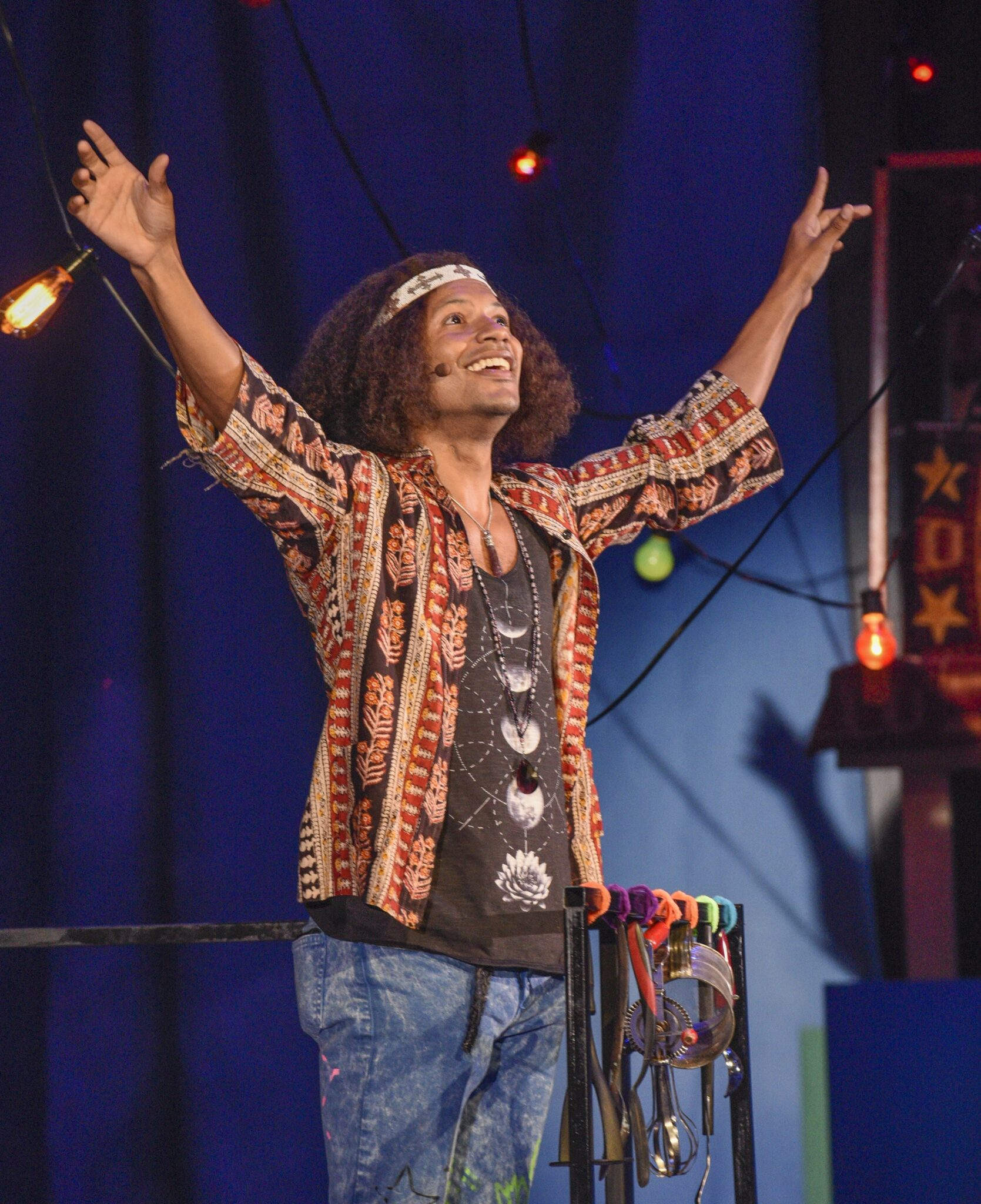 "Jaime Cepero as Claude in Dallas Theater Center's ""Hair."" Photo by Karen Almond."