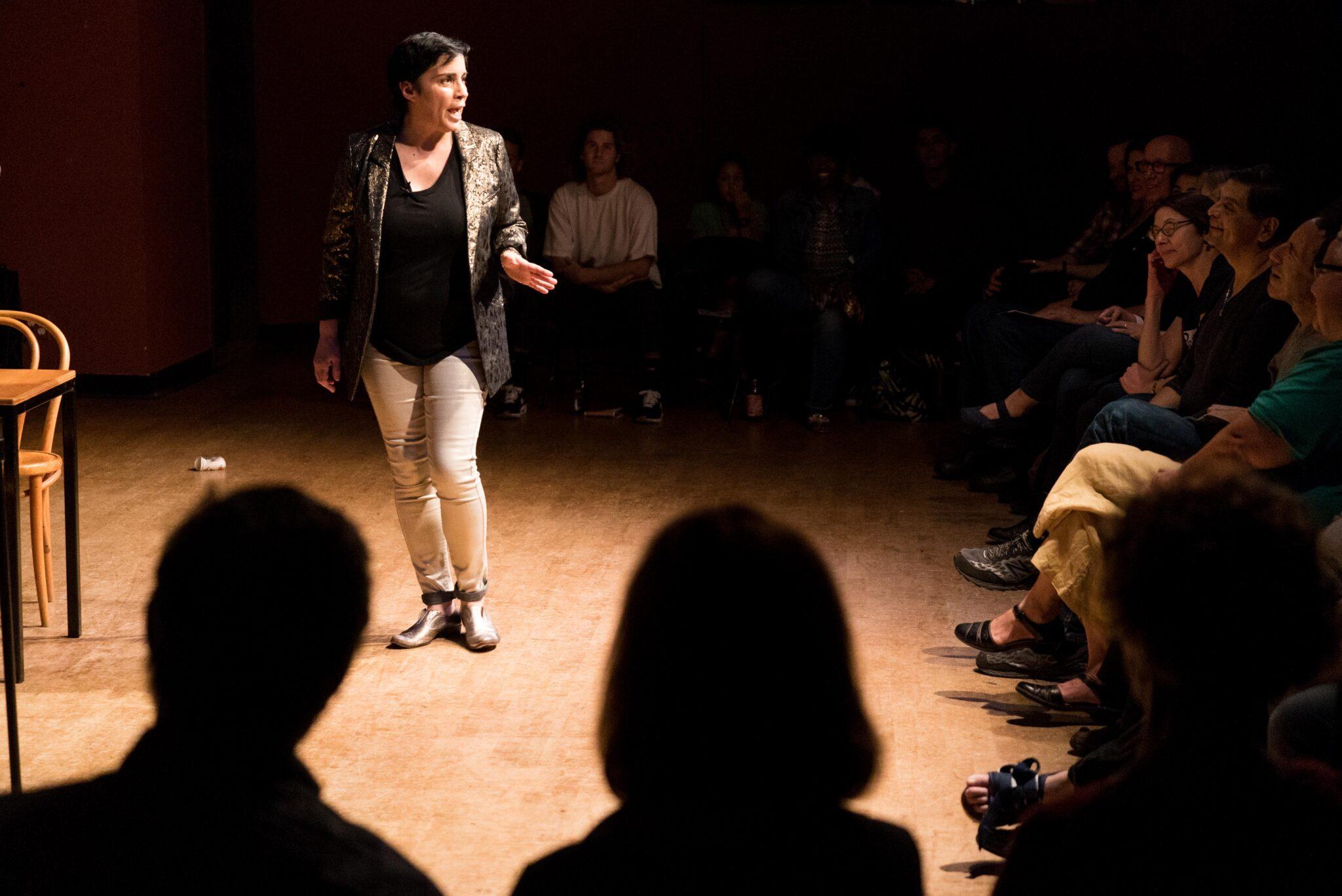 "Marga Gomez in""Latin Standards."" Photo by James Tensuan."