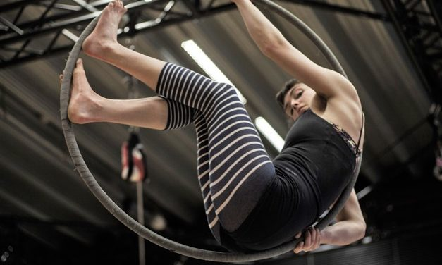 Women Flying High In Circus