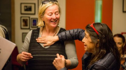 Jenny Sealey with Kathryn Hunter |Photo Credits Disability Arts Online