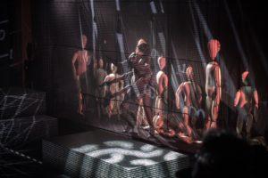 """""""Zagubiony chłopiec"""" [""""The Lost Boy""""] by Artur Pałyga, dir. by Paweł Passini, Teatr Lalki i Aktora w Opolu, Photograph by Grzegorz Gajos"""