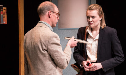 """Lo (Or Der Mr. Wells)"": Rose Napoli And David Mamet Clash In This Fine Production Dealing With Troubling Ethical Questions.."