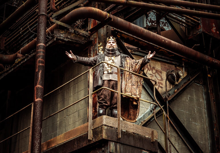 "Quantum ""King Lear"" pre-production photos at Carrie Furnace site."