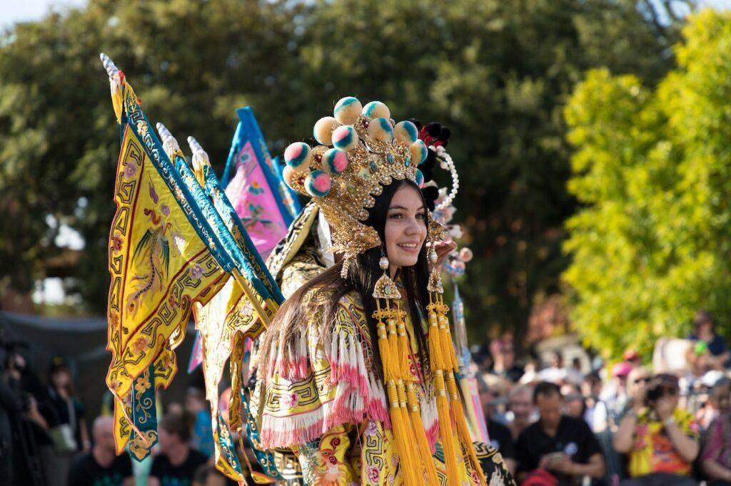 Easter Parade Princess, Stellina Baxter, makes her entrance.