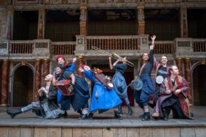 Members of The Globe's touring ensemble, who are set to perform in Hong Kong this September. Photo by Marc Brenner.