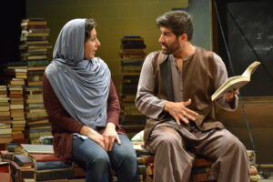 1. Nazli Sarpkaya as Afghan-born American Geeta and Yousof Sultani as her Afghan boyfriend. Photo by Seth Rozin.