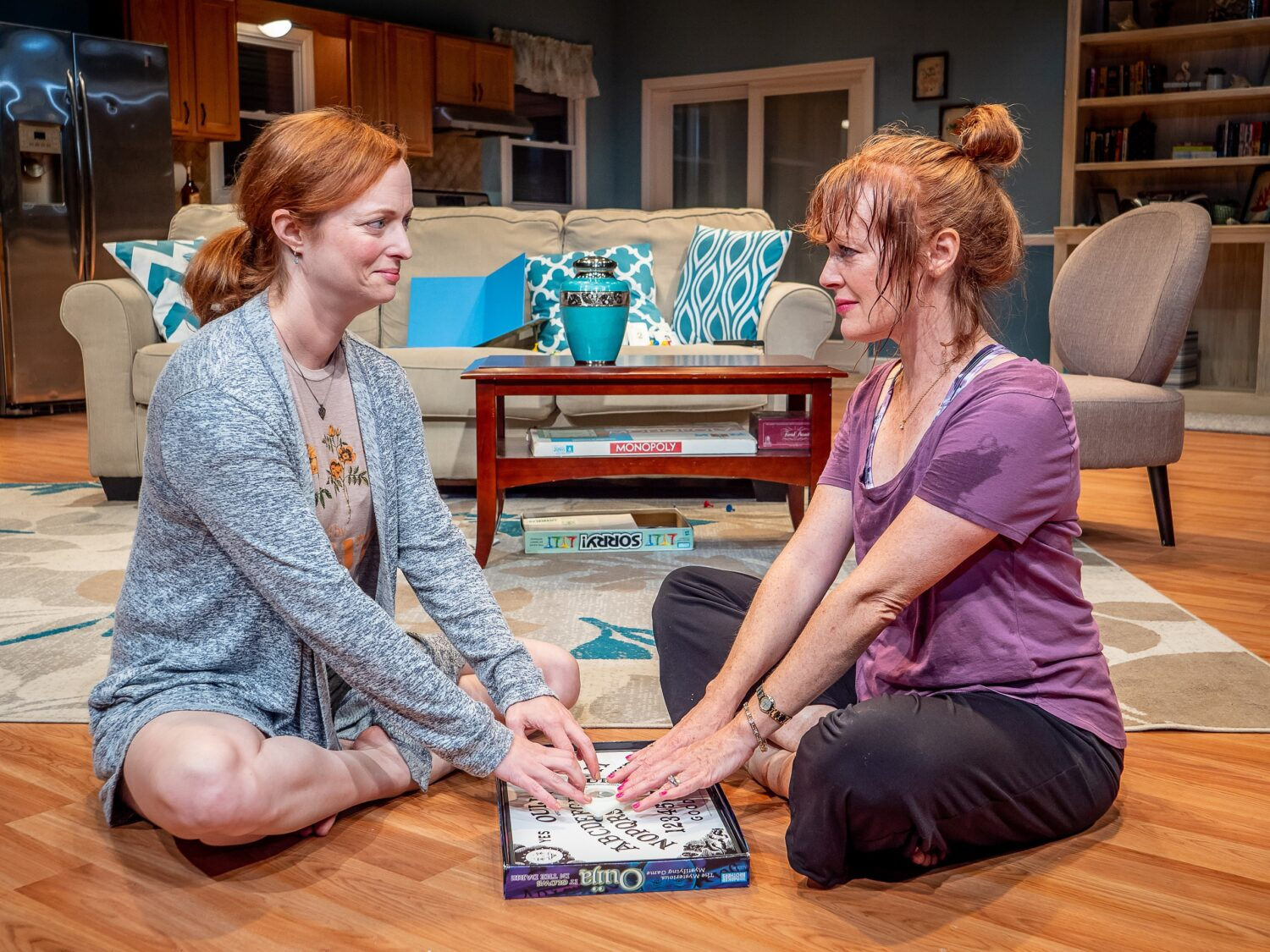 Kelley Rae O'Donnell as Maggie and Kathy McCafferty as Rosemary in the Premiere Stages production of The Wake by Tammy Ryan | Photo Credits Mike Peters