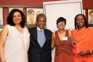 Yvette Heyliger, Andre de Shields, Rehana Lew Mirza, Donna Walker-Kuehne at the LPTW Rachel Crothers Leadership Award Luncheon. Photo by Valerie Terranova Photography.