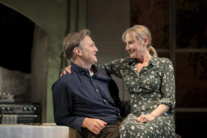 "David Morrissey and Lesley Sharp in ""The End of History..."" Photo: Johan Persson."