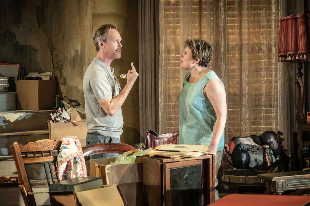 Steven Mackintosh and Monica Dolan in Appropriate. Photo: Marc Brenner.