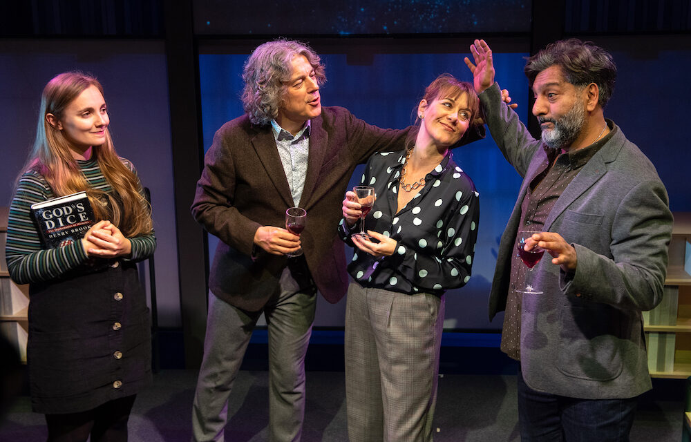 """David Baddiel's """"God's Dice"""" at the Soho Theatre: Mid-Life Crisis as Science Confronts Religion"""