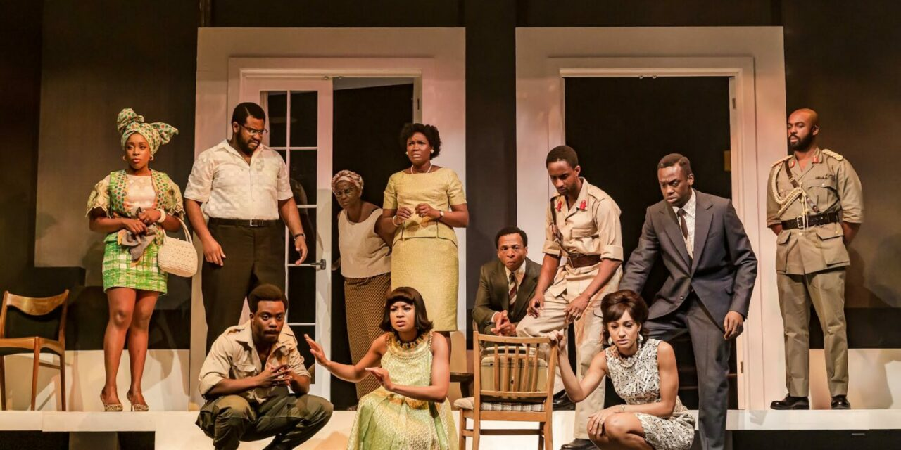 """National Theatre: Inua Ellam's """"Three Sisters"""" Surges with Narrative Energy, Depicting Sisterhood and Colonial Injustice in the Short-Lived Republic of Biafra."""