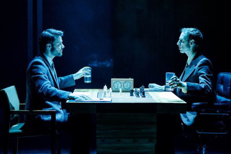 Ronan Raftery and Robert Emms in Ravens: Spassky Vs Fischer. Photo: Manuel Harlan
