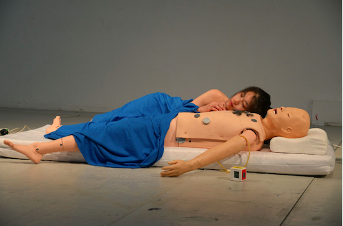 """Production still from Geumhyung Jeong's """"CPR Practice"""""""