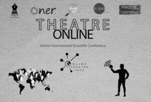 Poster of the online-theatre conference by International Union of Theatre Critics by Ali Hajili.