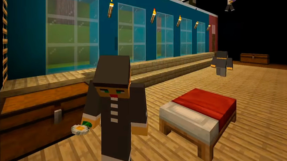 """Russian Theatre Stages """"The Cherry Orchard"""" Using Minecraft"""