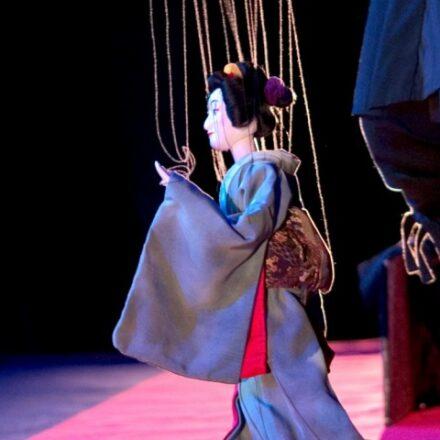 A Japanese puppet show