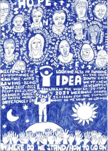 Adriana Nichting's drawing of the IDEA Where Do We Stand? Webinar