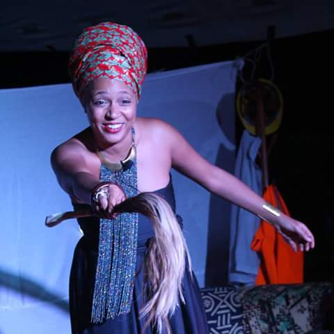 A past one-woman show at the Goethe Institut in Nairobi. Solo performances will be eligible for KTAs.