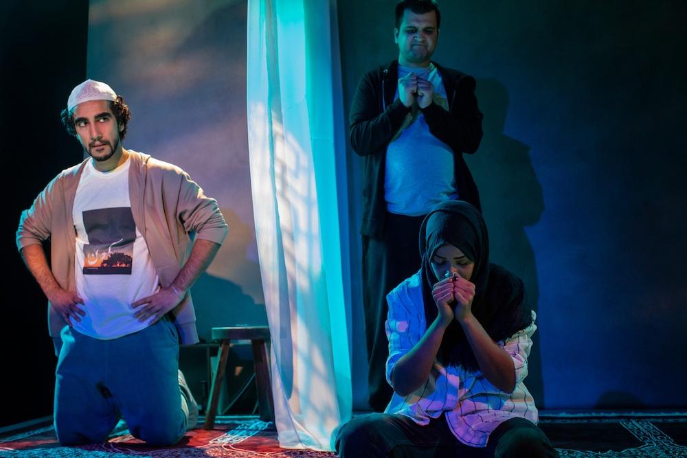 Zaqi Ismail, Safyan Iqbal and Sumayya Si-Tayeb in 10 Nights. Photo: Ali Wright